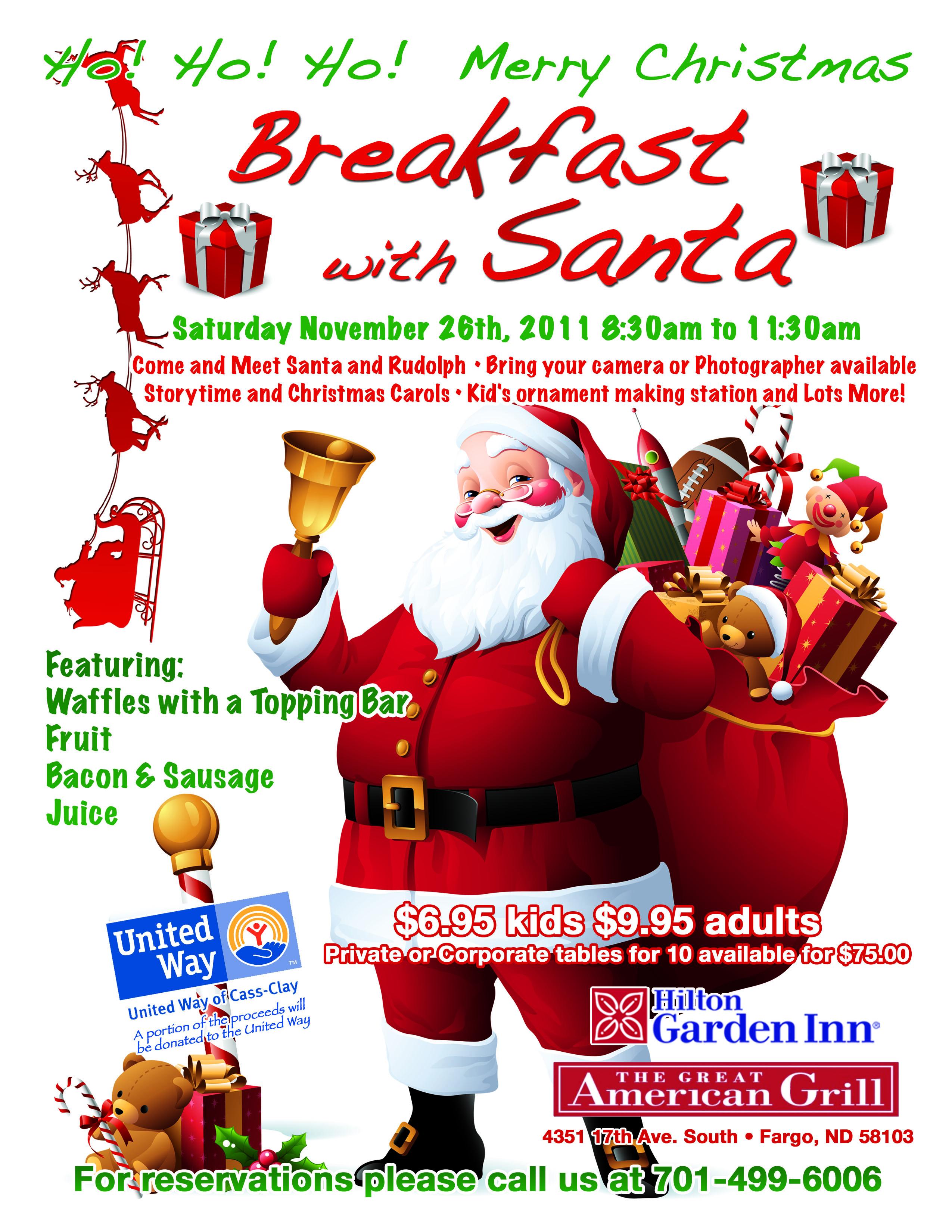 HGI Fargo - Santa Breakfast